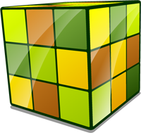 Abstract illustration for this script: a stylized Rubik's cube.